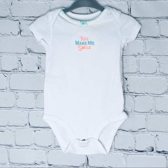 Baby Onesie You make me smile 6 months